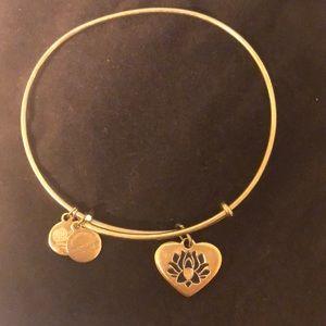 Alex and Ani lotus bracelet